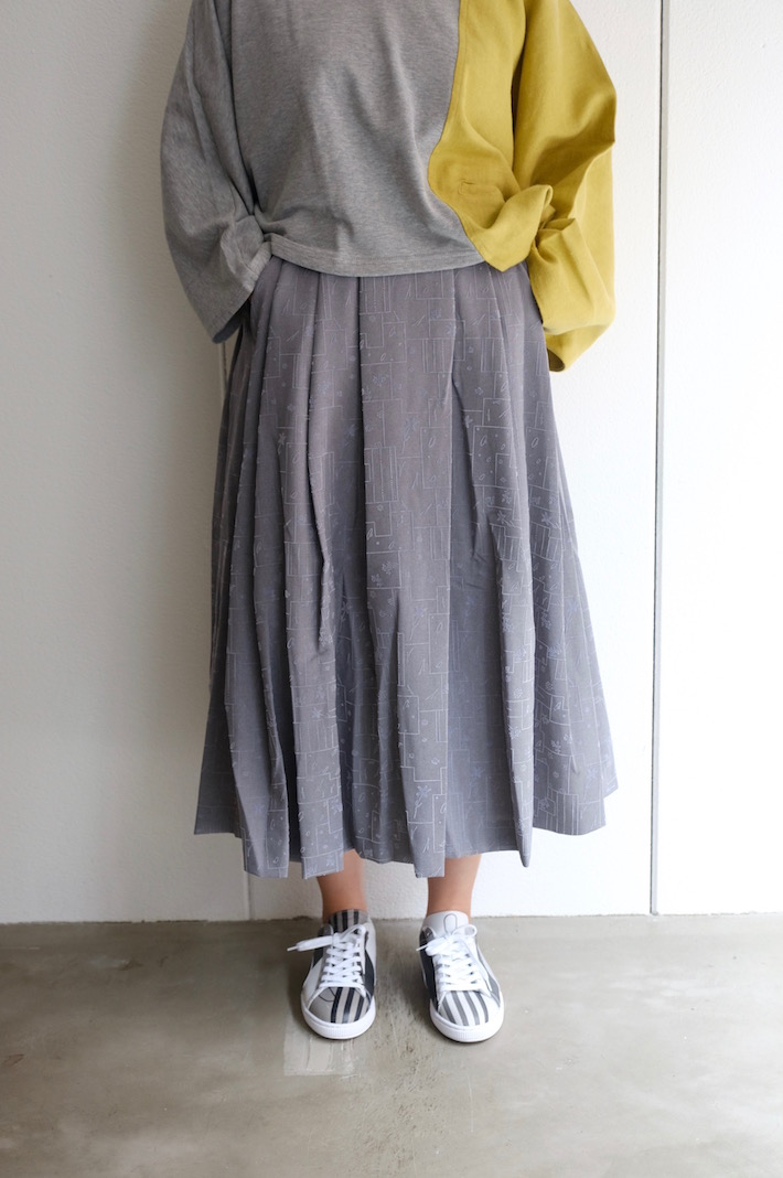 "rikolekt (リコレクト) | ""memoryscapes""SKIRT (gray) Sサイズ | スカート"