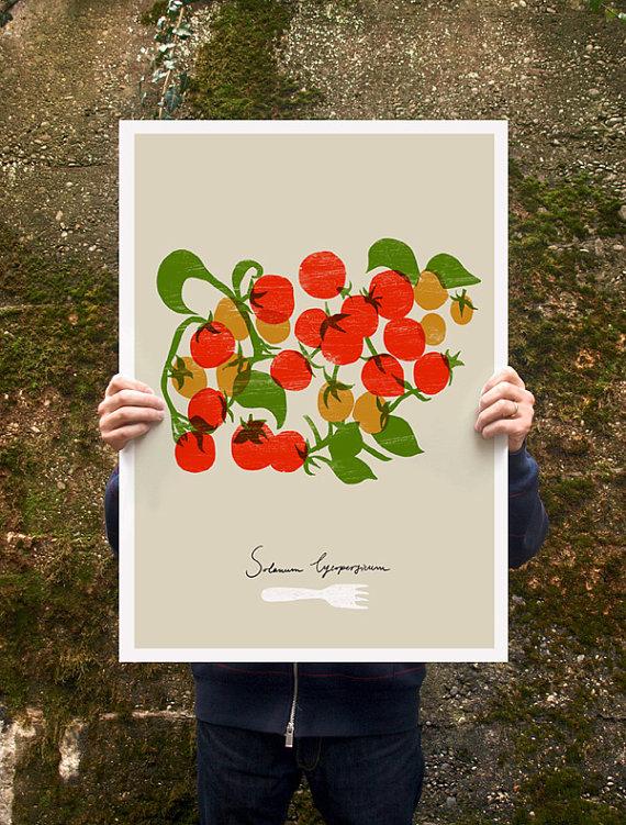 ANEK   CHERRY TOMATOES - FOOD PRINT   アートプリント/ポスター (50x70cm)
