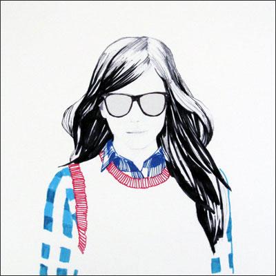 楽天市場 10antemeridiem college girl a4 アートプリント ポスター