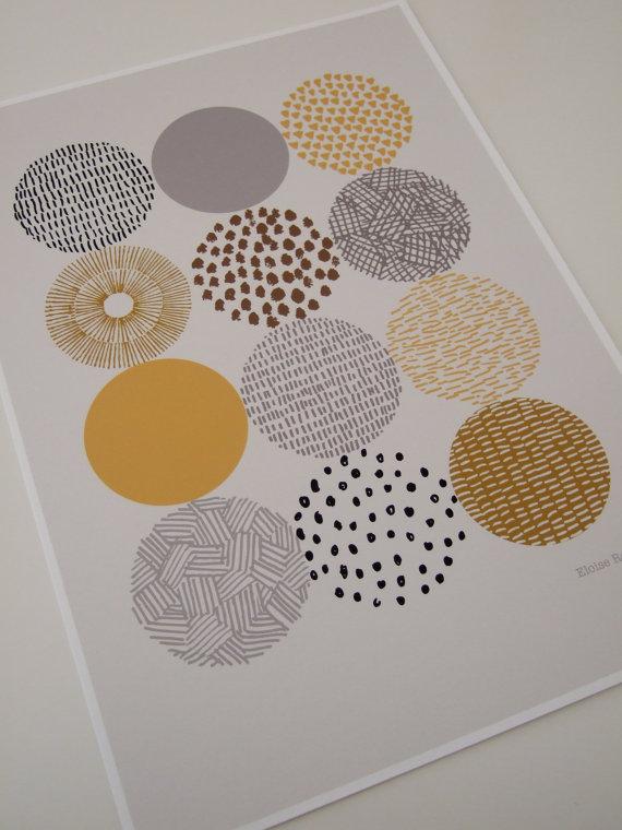 ELOISE RENOUF | CIRCLES | A3 아트 인쇄/포스터