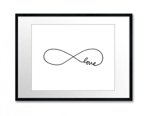 オーストラリアはメルボルンのブランド The Love Shopのタイポグラフィ THE LOVE SHOP ENDLESS A3 北欧 アートプリント 白黒 おしゃれ 10%OFF インテリア セール開催中最短即日発送 ポスター シンプル モノクロ