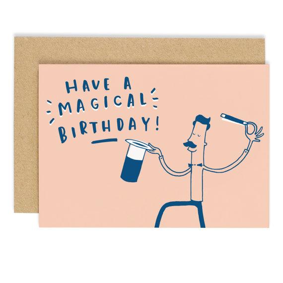 Hafen Old English Co Magic Birthday Card Birthday Greeting