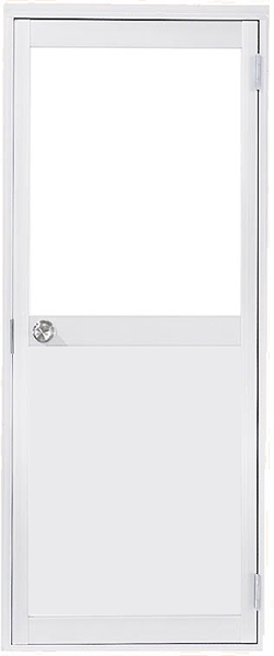 アルミサッシ トステム 内付 勝手口 框ドア W600×H1755 (0617)