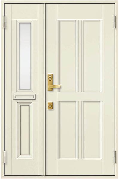 アルミサッシ トステム 玄関ドア クリエラR 半外付 親子 11型 ポスト付き