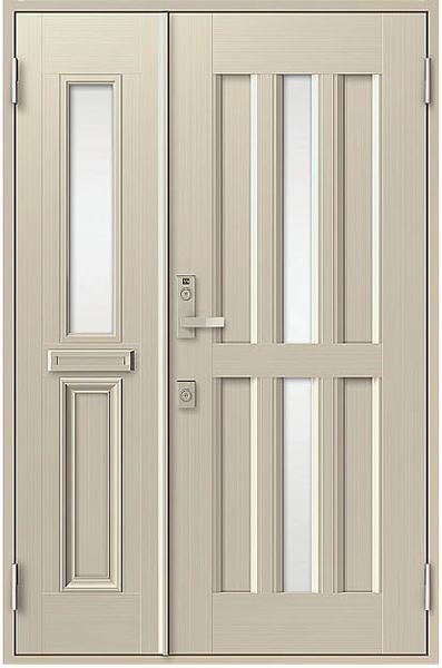 アルミサッシ トステム 玄関ドア クリエラR 内付 親子 15型 ポスト付き