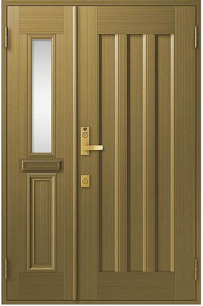 アルミサッシ トステム 玄関ドア クリエラR 半外付 親子 19型 ポスト付き
