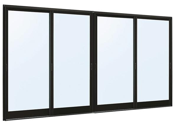 アルミサッシ 新品 店舗引戸 9TH W3510×H2230 (34722-4) 4枚建