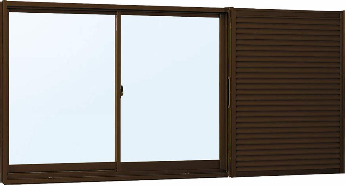雨戸付 アルミサッシ W1690×H770 (16507) 複層ガラス