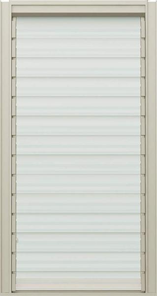 アルミ樹脂複合サッシ エピソード ダブルルーバー窓 W405×H770 (03607)