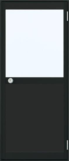 アルミサッシ YKK 半外 勝手口 框ドア W850×H2007 (85020)