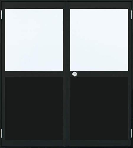 アルミサッシ YKK 内付 セットアップ 勝手口 16918 W1690×H1840 両開き 買収 框ドア