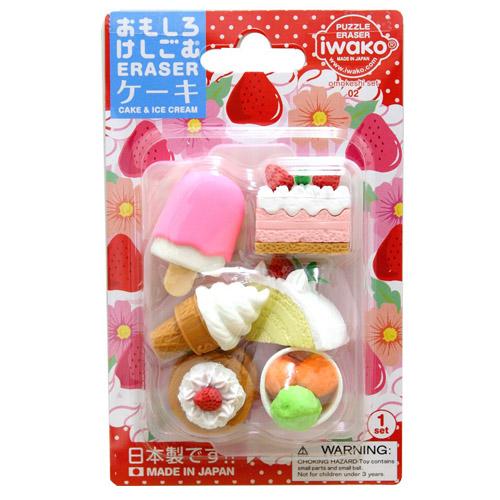 安心の日本製です子供会 景品 配りもの 当店一番人気 ごほうび おまけ おもしろ 消しゴム 販促 ケーキ イワコーブリスターパック消しゴム 秀逸