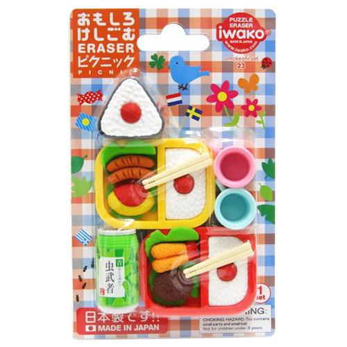 安心の日本製です子供会 驚きの値段で 景品 配りもの ごほうび 高価値 おまけ 消しゴム おもしろ ピクニック 販促 イワコーブリスターパック消しゴム