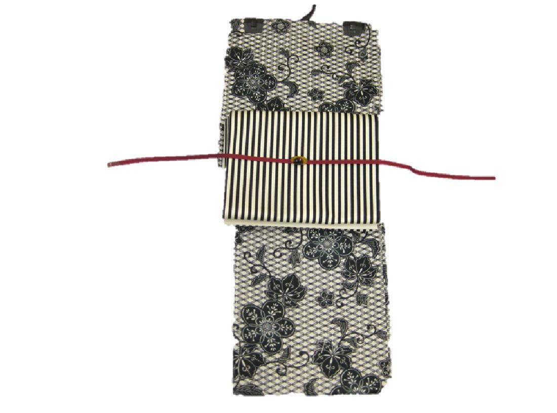 送料無料!女性用・レディース浴衣・古典柄ゆかた・綿京袋帯-縞