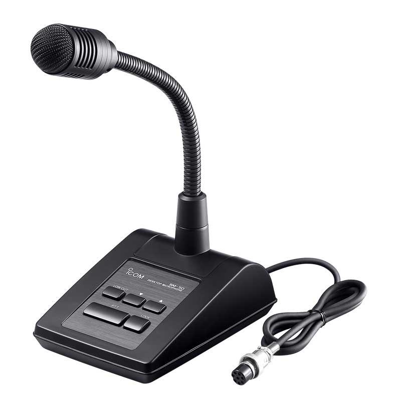 アイコム icom SM-50『スタンドマイク』 ダイナミック型マイク マイクロフォン マイクロホン スタンド型 デスクトップマイク デスクトップ デスクトップ型 黒 ブラック 【送料無料】