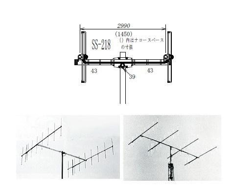 ナガラ/NAGARA SS-218 144MHz 9エレ スタック