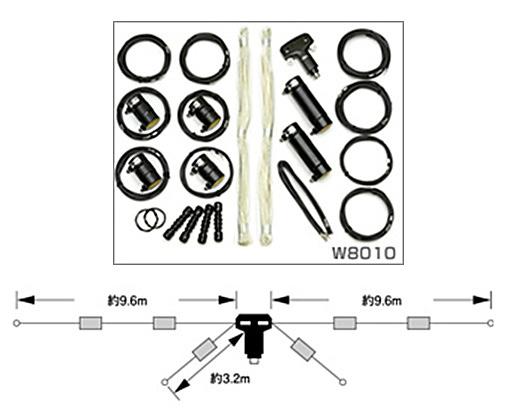 第一電波工業 W8010HF帯(3.5/7/14/21/28MHz)5バンドダイポールアンテナ