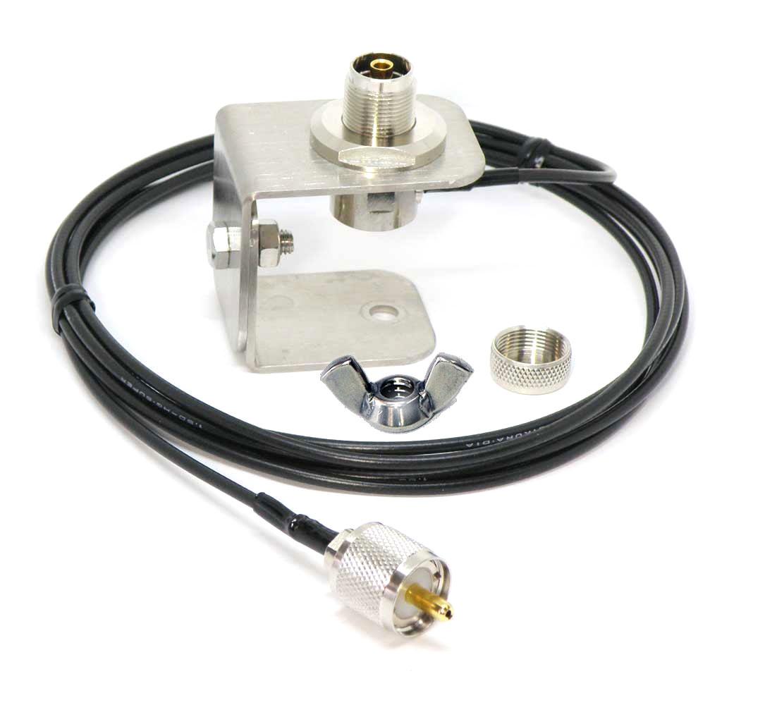 カメラ三脚でアンテナ設営が簡単 HD-3MT-M おすすめ カメラ三脚用アンテナ基台ML-MP型コネクター同軸2.5mカメラネジ 付 ナット 上質