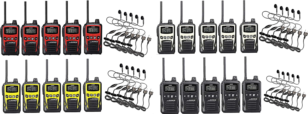 トランシーバー 5台セット 特定小電力無線機 インカムアルインコ DJ-PB20×5+HD-12I×5イヤホンマイクセット20チャンネル対応モデル
