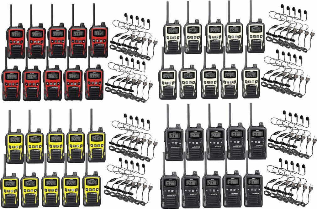 トランシーバー 10台セット 特定小電力無線機 インカムアルインコ DJ-PB20×10+HD-12I×10イヤホンマイクセット20チャンネル対応モデル