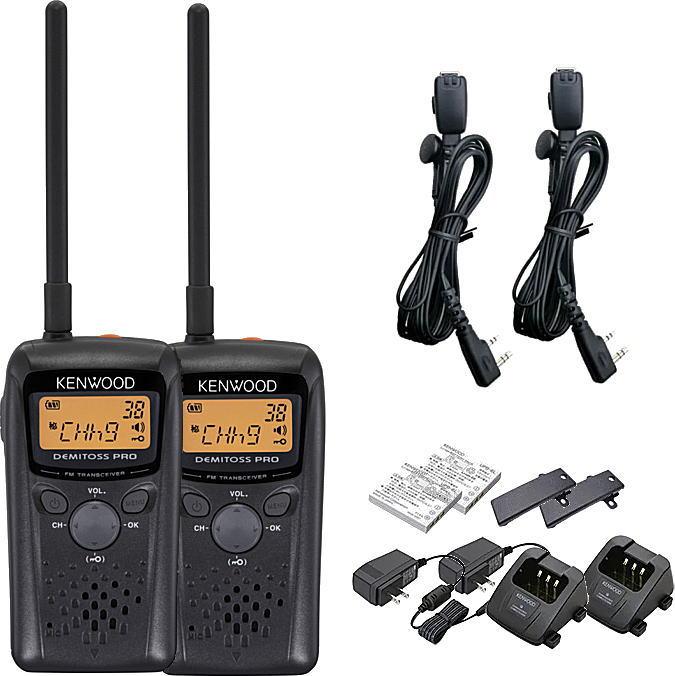 トランシーバー 特定小電力 無線機 インカム 2台セットケンウッド UBZ-BM20R  HD-24K2 オリジナル イヤホンマイクセット