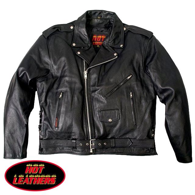 【送料無料!】米国直輸入! ホットレザー [Classic Motorcycle Leather Jacket With Zip Out Lining] クラシック・モーターサイクル・レザー・ジャケット・ウィズ・ジップアウト・ライニング! 本革 ダブル ライダースジャケット 革ジャン インナー取外OK! 大きいサイズ!
