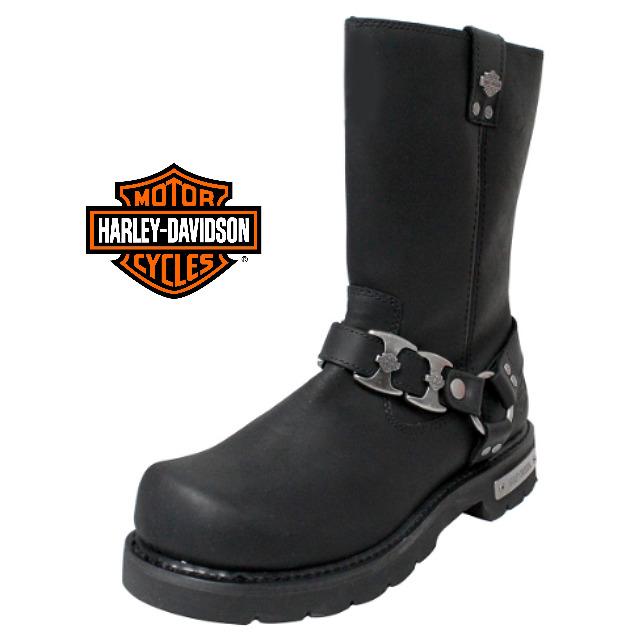 米国直輸入!日本未発売!送料無料!ハーレーダビッドソン・純正 メンズ マックスウェル ブラック レザー ハイカット ブーツ エンジニアブーツ 本革 Harley-Davidson Mens Maxwell Black Leather High Cut Boot