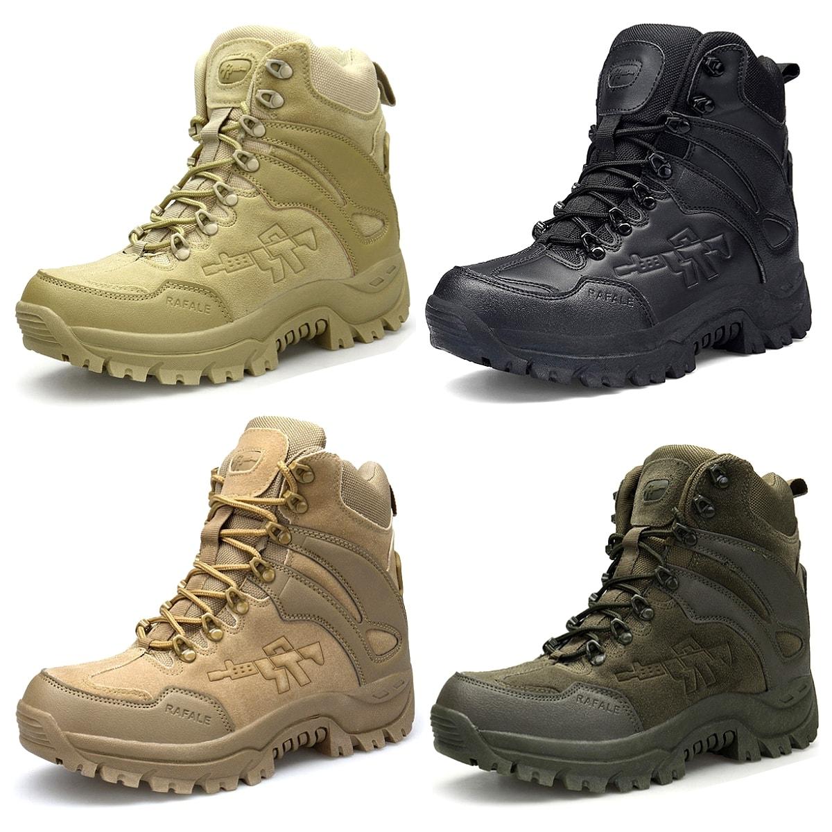 【送料無料!】全4色! [Men's Desert Military Tactical Boots] メンズ デザートミリタリー タクティカルブーツ! 靴 シューズ スニーカー マウンテンブーツ アーミー コンバット ミドルブーツ レースアップ ジッパー開閉 牛革スエード アウトドア バイクに!