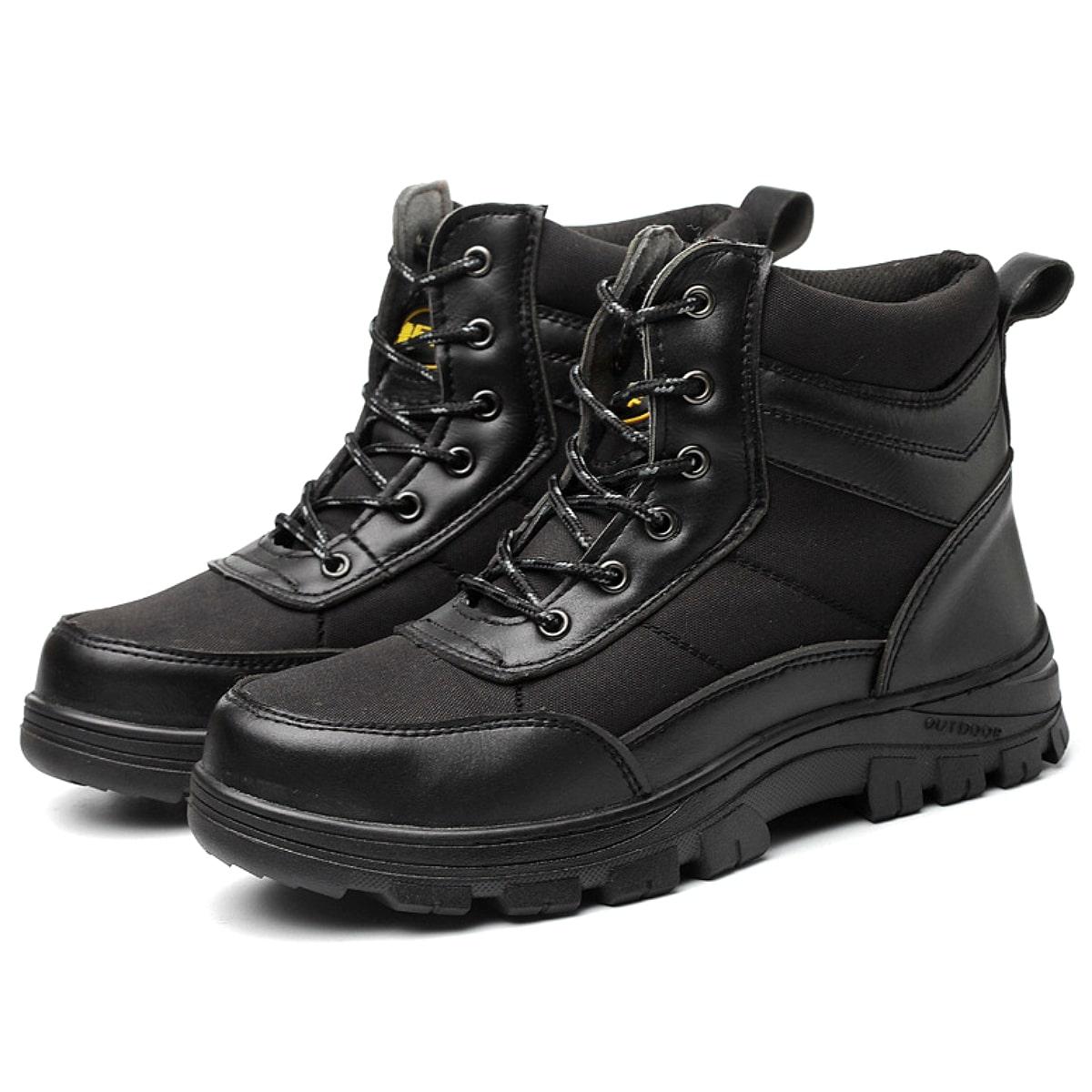 【送料無料!】全2色! [Men's Warm Military Steel Toe Cap Safety Work Boots] メンズ ウォームミリタリー スティールトウキャップ セーフティーワークブーツ! 靴 シューズ スニーカー マウンテンブーツ レースアップ 鉄板 安全靴 先芯入り アウトドア サバゲー バイクに!