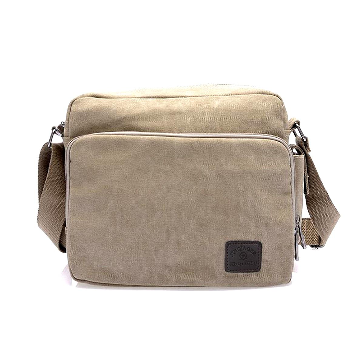 【送料無料!】全4色! [Vintage Canvas Multifunctional Shoulder Bag] ビンテージ・キャンバス・マルチファンクショナル・ショルダーバッグ! 男女兼用 メッセンジャーバッグ 鞄 斜め掛け 旅行 サブバッグ ツールバッグ 多収納 ポケット ミリタリー アーミー バイクに!