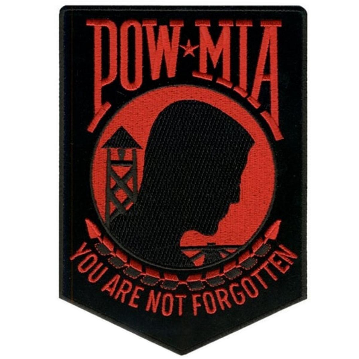 POW MILITARY RED ON BLACK POW MIA  Flag 3/' X 5/' new!
