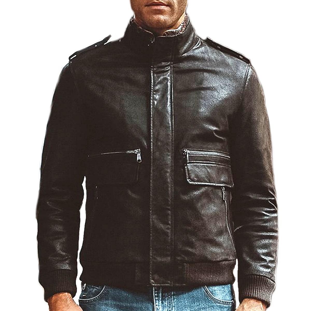 【送料無料!】全10サイズ! [Men's Vintage Pigskin Genuine Leather Motorcycle Jacket] メンズ ビンテージ ピッグスキン ジェニュインレザー モーターサイクルジャケット! 本革 豚革 革ジャン ダークブラウン コート アウター バイクに!