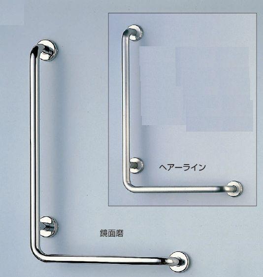 トイレ・浴室用手すり:ステンレス L形丸棒ニギリバー(左) 600×400 送料無料(一部を除く)