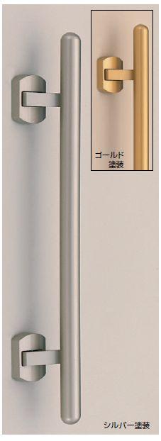 プッシュプルハンドル錠(空錠) カプセル ゴールド色550 (真鍮製)