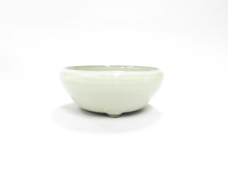 盆栽鉢 鉄鉢 丸型鉢 3号鉢 山野草鉢 瀬戸焼 A11-11 マーケティング 陶器鉢 クリーム3号 ミニ盆栽に最適です 植木鉢 割り引き