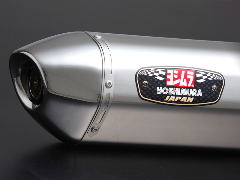 YOSHIMURA/ヨシムラ GSX-S750(17:ABS) Slip-On R-77Jサイクロン EXPORT SPEC 政府認証 ステンレスカバー/ステンレスエンドタイプ (品番 110-150-5V50 )