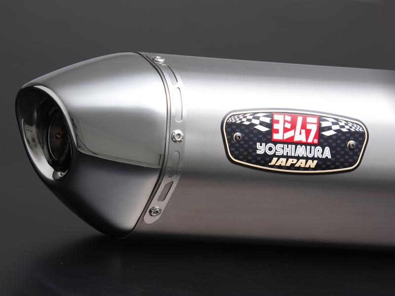 YOSHIMURA/ヨシムラ Slip-On R-77Jサイクロン EXPORT SPEC 政府認証 STS (チタンカバー/ステンレスエンドタイプ) BANDIT1250/S ABS(07-) 、 1250F ABS(10-)(車両型式 EBL-GW72A / エンジン型式 W705) (品番 110-177-5V81 )
