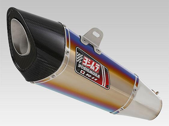 YOSHIMURA/ヨシムラ Slip-On R-11 サイクロン 1エンド EXPORT SPEC 政府認証 STB (チタンブルーカバー) Ninja250SL(15-16)、Z250SL(16)(車両型式 JBK-BX250A / エンジン型式 BX250AE) (品番 110-229-5E80B )
