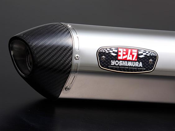 YOSHIMURA/ヨシムラ GSX-S125(17:ABS) 機械曲R-77S サイクロン カーボンエンド EXPORT SPEC 政府認証 SSC (ステンレスカバー/カーボンエンドタイプ) (品番 110A-524-5150 )