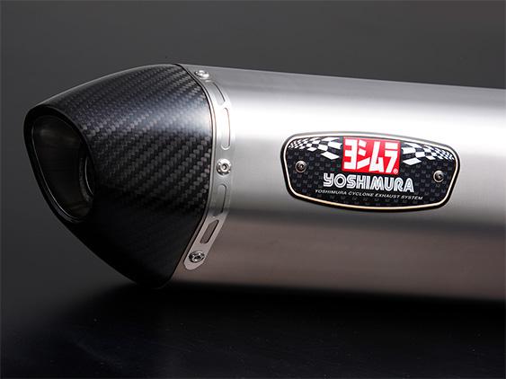 YOSHIMURA/ヨシムラ GSX-S125(17:ABS) 機械曲R-77S サイクロン カーボンエンド EXPORT SPEC 政府認証 STC (チタンカバー/カーボンエンドタイプ) (品番 110A-524-5180 )