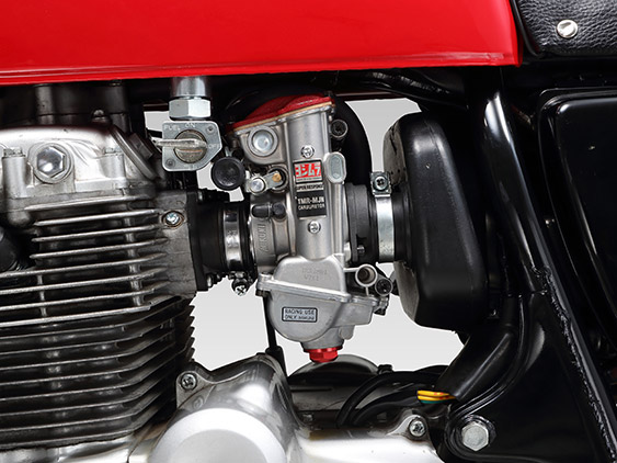 YOSHIMURA/ヨシムラ CB400FOUR (408cc: 74-77 /398cc: 76-77) 型式 CB400E (398cc) CB400FE (408cc) ヨシムラMIKUNI TMR-MJN28キャブレター ノーマルエアクリーナーボックス仕様 (品番 798-441-8000 )