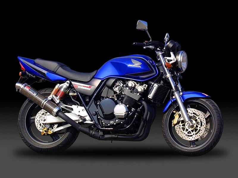 CB400SB/SF/CBR400RR ヨシムラ Slip-On サイクロン ステンレスカバー マフラー (品番 110-445-5452 )