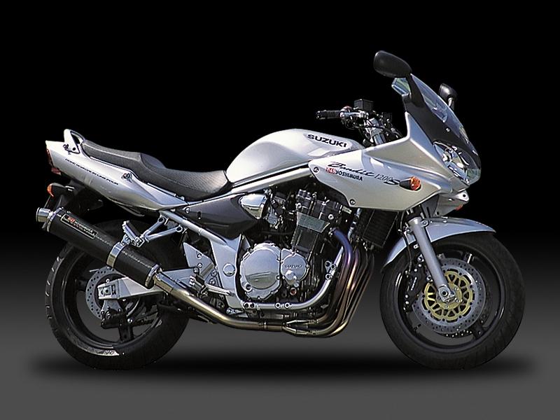 BANDIT1200(-06) ヨシムラ 機械曲げチタンサイクロン チタンブルーカバー マフラー (品番 110-112-8281b )