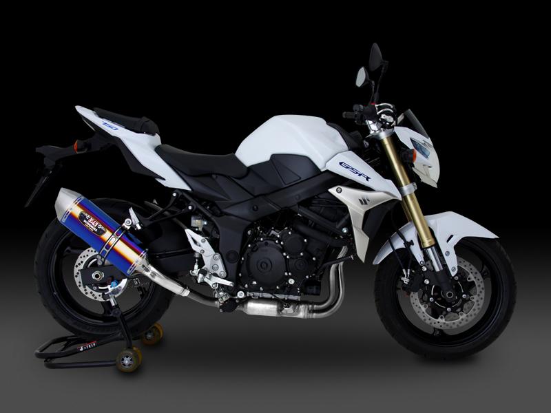 GSR750(13-:ABS国内仕様)(11-:EU仕様/ABS車両適合) ヨシムラ Slip-On R-77Jサイクロン EXPORT SPEC SSS (ステンレスカバー/ステンレスエンドタイプ) マフラー (品番 110-158-5v50 )