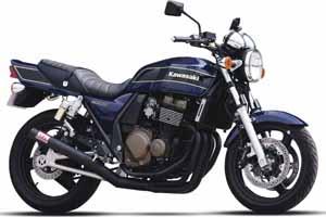 98-08 ZRX400 モリワキ ワンピース ブラック マフラー [MORIWAKI ZRX400 '98-08 FULL EX. ONE-PIECE BLACK CAT.] Kawasaki/カワサキ ( 01810-40227-20 )
