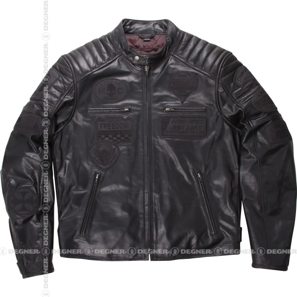 【デグナーWEB正規代理店】 15WJ-2A ヴィンテージレザージャケット ブラック (15WJ-2A-BK)