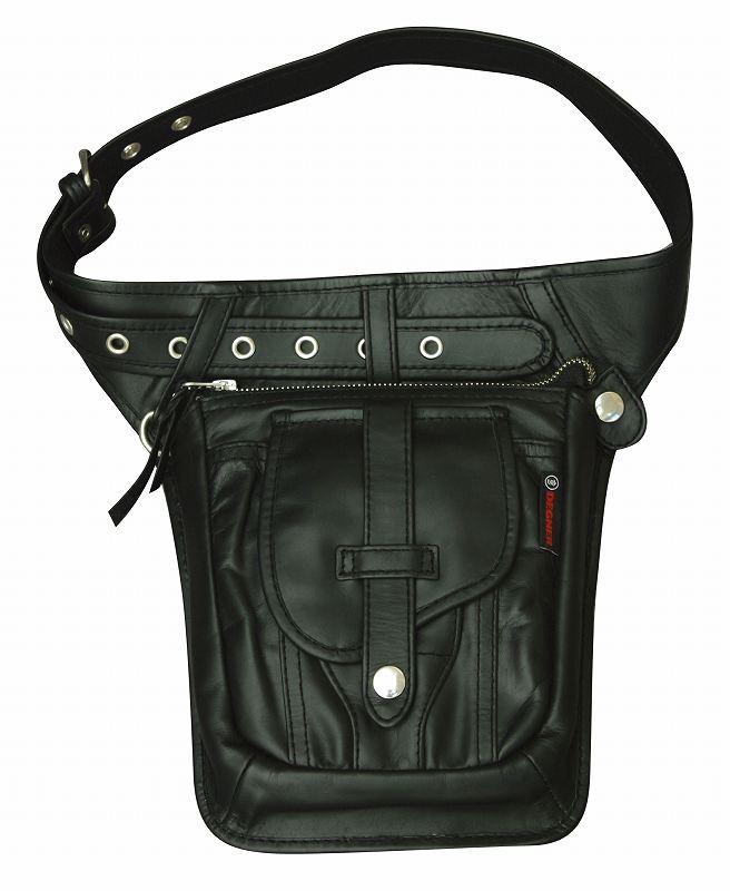 【デグナーWEB正規代理店】 無料ギフト包装可 ヒップバッグ ブラック  ( W-27-BK )