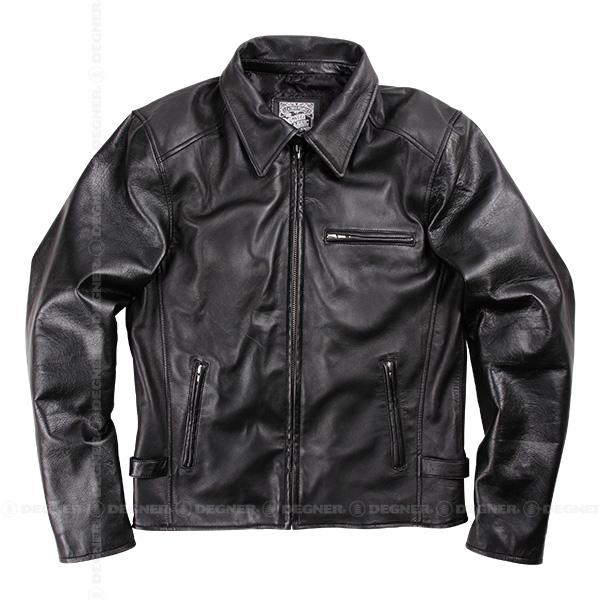 【デグナーWEB正規代理店】 レザージャケット ブラック 羊革  ( 17SJ-1-BK )
