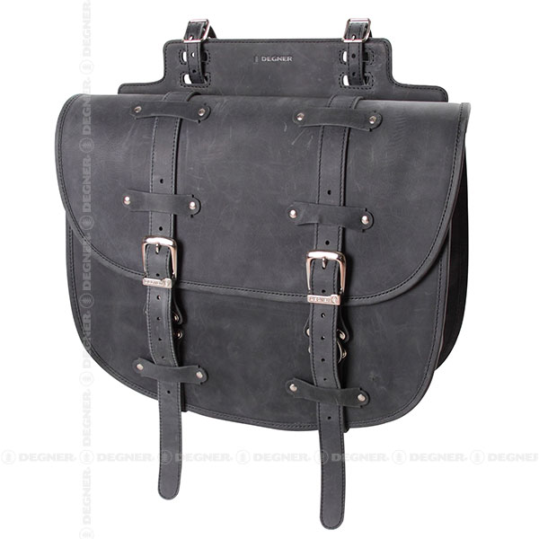 【デグナーWEB正規代理店】 レザーサドルバッグ/LEATHER SADDLE BAG(ブラック) (SB-64IN-BK)