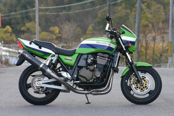 -08 ZRX1200R/S/1100 ノジマ R チタン 機械曲 マフラー カーボン ( ntpx608vc-cl )